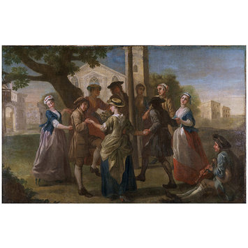 Painting - Country Dances Round a Maypole