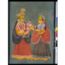 Parvati taking her son Ganesh to her father's house (Painting)