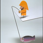 Fisherman balancing toy