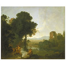 Classical Landscape with Venus and Adonis (Oil painting)