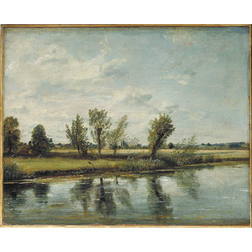 Oil painting - Water-meadows near Salisbury