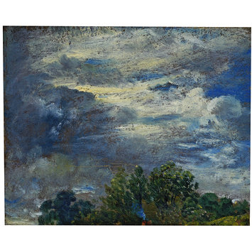 Oil painting - Study of Sky and Trees