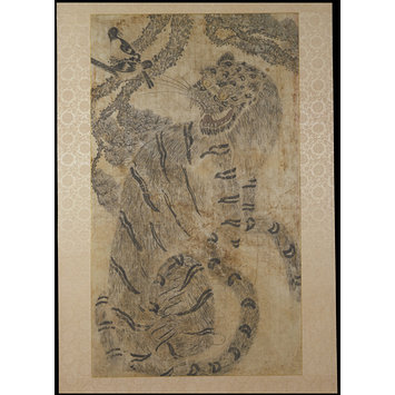 Painting - Tiger and Magpie; Hochakdo