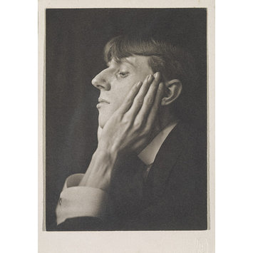 Photograph - Portrait of Aubrey Beardsley, profile, head on hands