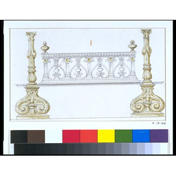 Design - Design for andirons and a fire grate