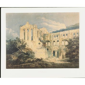 Watercolour - Rievaulx Abbey, Yorkshire