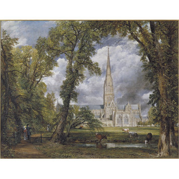 Oil painting - Salisbury Cathedral from the Bishop's Ground