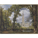 Salisbury Cathedral from the Bishop's Ground (Oil painting)
