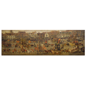Painting - The Ommeganck in Brussels on 31 May 1615: The Triumph of Archduchess Isabella