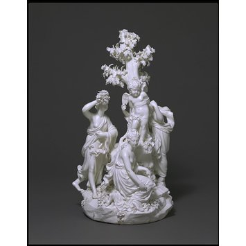 Figure group - The Three Graces distressing Cupid