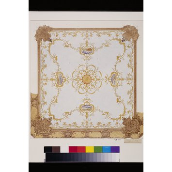 Design - Design for a boudoir ceiling in the Rococo style