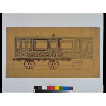 Design - Design for the exterior decoration of a railway carriage made for Frederick VII, King of Denmark