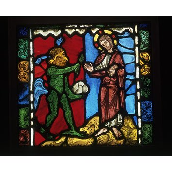 Panel - Temptation in the Wilderness; First Temptation of Christ
