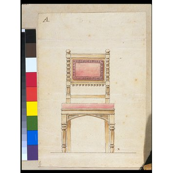 Design - Design for a chair in the Gothic manner