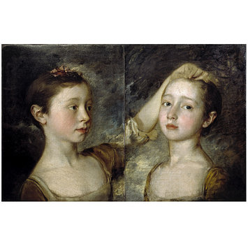 Oil painting - The Painter's Two Daughters
