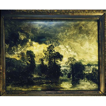 Oil painting - Landscape with a Stormy Sky; Paysage au ciel orageux