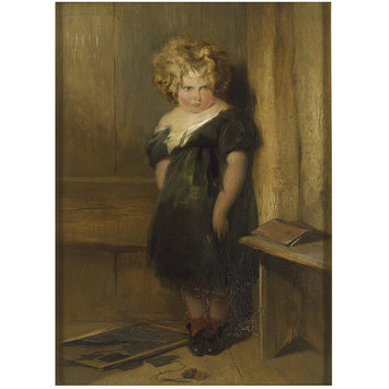 Oil painting - A Naughty Child