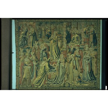 Tapestry - Esther hearing of Haman's plot