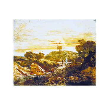 Oil painting - Landscape with a Windmill