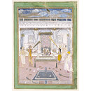 Maharaja Madho Singh worshipping at a Krishna shrine (Painting)