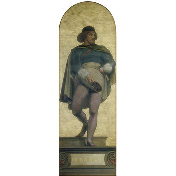 Oil painting - Donatello: design for a mosaic in the Museum (the 'Kensington Valhalla'); The Kensington Valhalla
