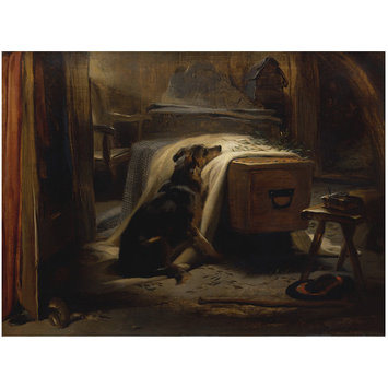 Oil painting - The Old Shepherd's Chief Mourner