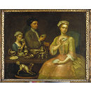 A Family of Three at Tea; A Family at Tea; A Family of Three at Tea (Oil painting)