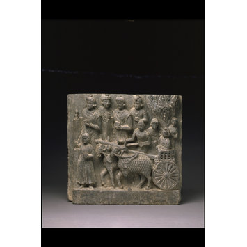 Relief - Prince Siddhartha going to school