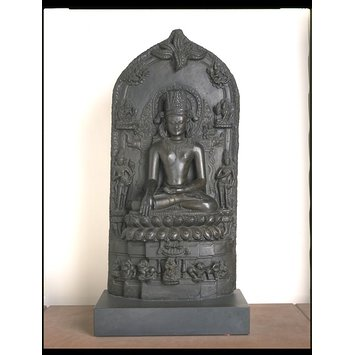 Sculpture - seated  crowned Buddha