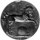 A Horse Leaping over a Globe (Plaquette)