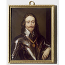 Portrait of Charles I, after Van Dyck (Enamel miniature)