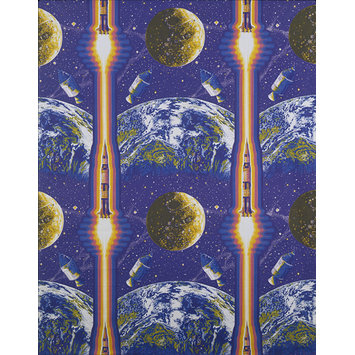Furnishing fabric - Lunar Rocket