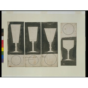 Drawing - Design for champagne glass