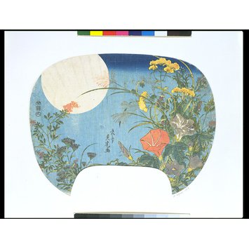 Woodblock print - Autumn Flowers and the Moon
