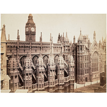 Photograph - Westminster, Henry VII Chapel Exterior and Westminster Hall