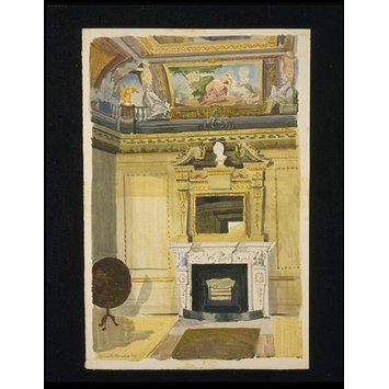 Watercolour - Interior of The Temple, Rievaulx Terrace, Yorkshire; The Pavilion on the Terrace, Duncombe Park; Recording Britain