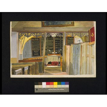 Watercolour - Interior, Black Chapel, North End, near Dunmow, Essex; Recording Britain Collection