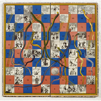 Board game - Kismet; Snakes and ladders