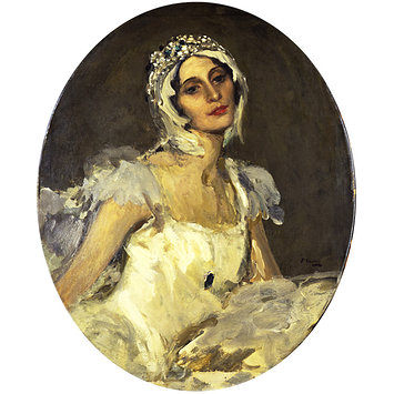 Painting - Anna Pavlova as 'The Swan'