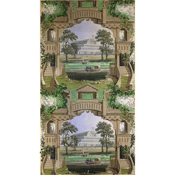 Wallpaper - Perspective Representation of the Crystal Palace and Serpentine; False Principle no 28