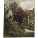 A Watermill at Gillingham, Dorset (Oil painting)