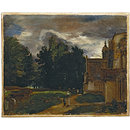 Porch of East Bergholt Church; East Bergholt Church and Churchyard (Oil painting)