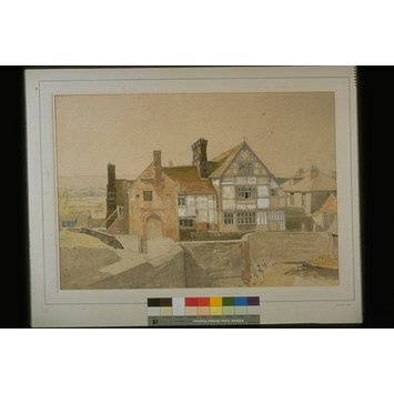 Watercolour - Anne of Cleves' House (North Elevation), Ditchling, Sussex; Recording Britain