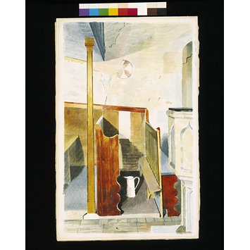 Watercolour - Interior of SS Peter and Paul, Little Saling, Essex; Recording Britain Collection