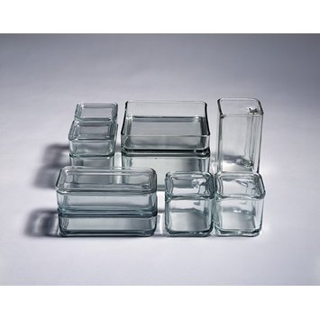 Glass storage boxes
