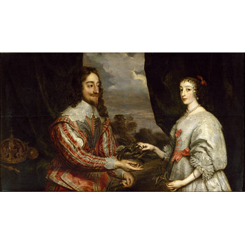 Oil painting - Charles I of England and Queen Henrietta Maria