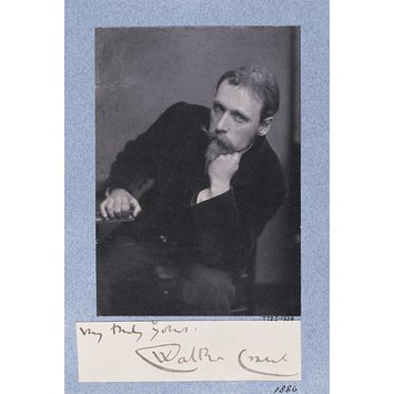 Photograph - Walter Crane; Portraits of many persons of note photographed by Frederick Hollyer in three volumes, vol. II