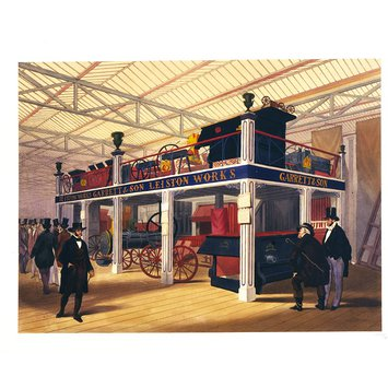 Lithograph - The Agricultural Court, Great Exhibition 1851
