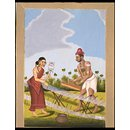 A Weaver and his wife (Painting)