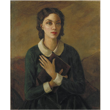 Painting - Dorothy Black as Emily Bront in The Bronts by Alfred Sangster